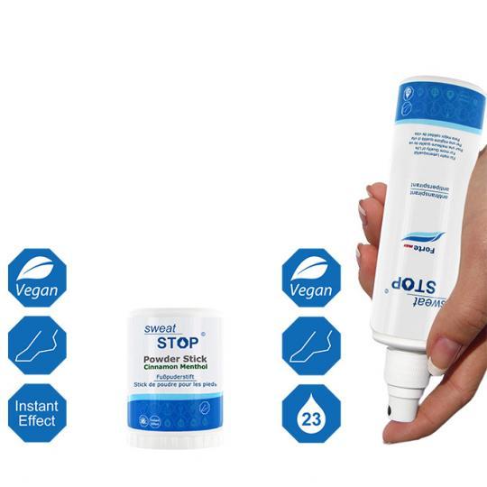 SweatStop® Antitranspirant-Set gegen Schwitzen an den Füßen